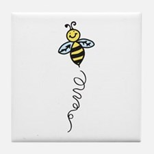Yellow Bee Tile Coaster