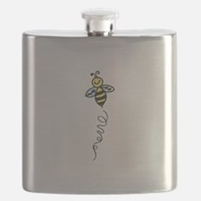 Yellow Bee Flask