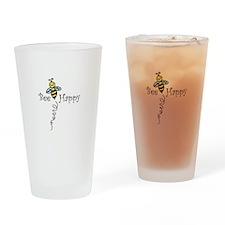 Bee Happy Drinking Glass