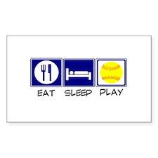 Eat, Sleep, Play Softball Decal