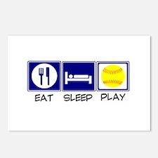 Eat, Sleep, Play Softball Postcards (Package of 8)
