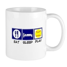 Eat, Sleep, Play Softball Mugs