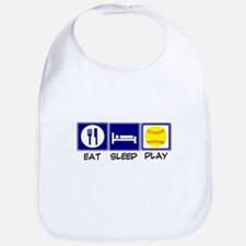 Eat, Sleep, Play Softball Bib