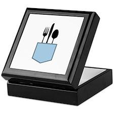 Silverware Shirt Pocket Keepsake Box