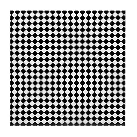 vintage black and white checkered tile coaster by clipartmegamart. Black Bedroom Furniture Sets. Home Design Ideas
