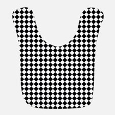 Vintage Black and White Checkered Bib