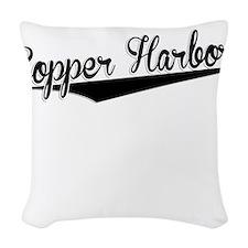 Copper Harbor, Retro, Woven Throw Pillow