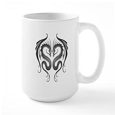 Dark Twin Tribal Dragons Mugs