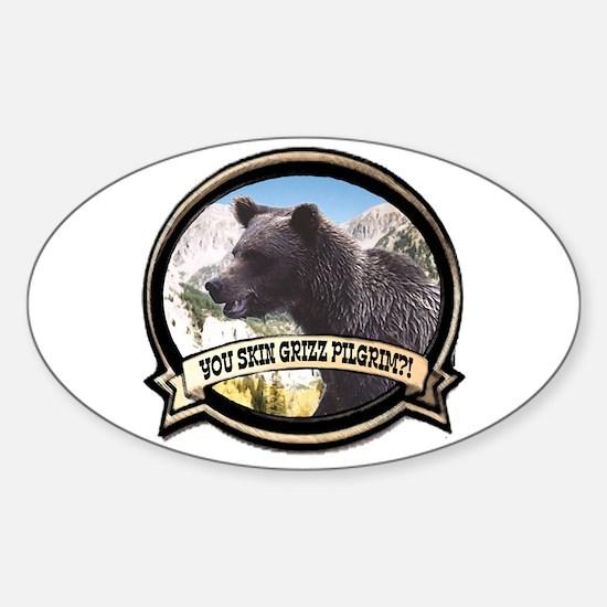 Can you skin Griz bear hunter Oval Decal