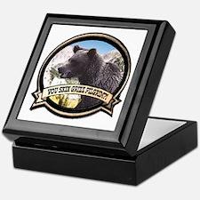 Can you skin Griz bear hunter Keepsake Box