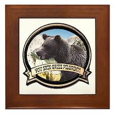 Can you skin Griz bear hunter Framed Tile