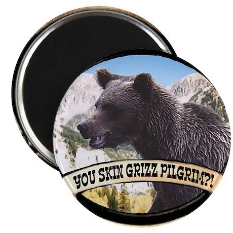 "Can you skin Griz bear hunter 2.25"" Magnet (100 pa"