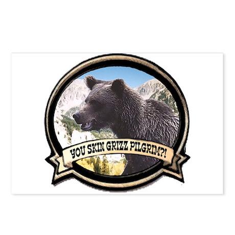 Can you skin Griz bear hunter Postcards (Package o