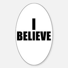 I Believe Playoffs Oval Decal