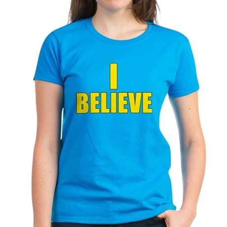 I Believe Playoffs Women's Dark T-Shirt