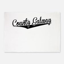 County Galway, Retro, 5'x7'Area Rug