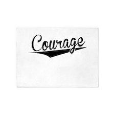 Courage, Retro, 5'x7'Area Rug