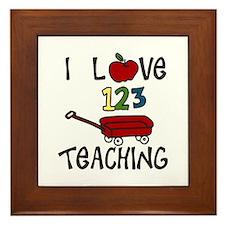 I Love TEACHING Framed Tile