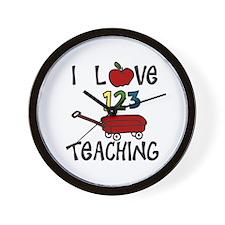 I Love TEACHING Wall Clock
