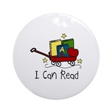 I Can Read Ornament (Round)