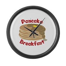 Pancake Breakfast Large Wall Clock