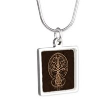 Brown Guitar Tree of Life Necklaces