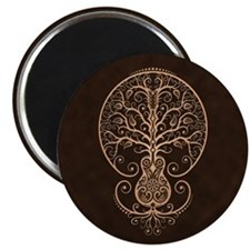 Brown Guitar Tree of Life Magnets