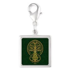 Green and Yellow Guitar Tree of Life Charms
