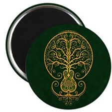 Green and Yellow Guitar Tree of Life Magnets