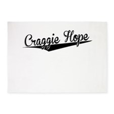 Craggie Hope, Retro, 5'x7'Area Rug