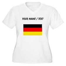 Custom Germany Flag Plus Size T-Shirt