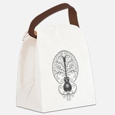 Gray Guitar Tree of Life Canvas Lunch Bag
