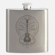 Gray Guitar Tree of Life Flask