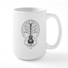 Gray Guitar Tree of Life Mugs