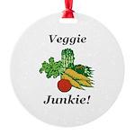 Veggie Junkie Round Ornament