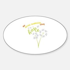 MY LITTLE DANDELION GIVES Hope Decal