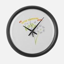 MY LITTLE DANDELION GIVES Hope Large Wall Clock