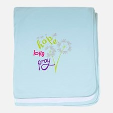 Hope Love pray baby blanket