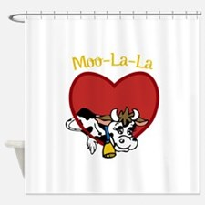 Moo-La-La Shower Curtain