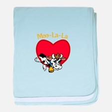 Moo-La-La baby blanket