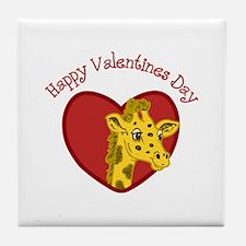 Happy Valentines Day Tile Coaster