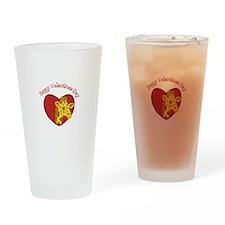 Happy Valentines Day Drinking Glass