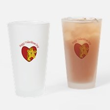 Happy Valentines Day Drinking Glass