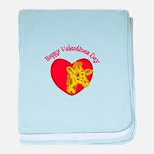 Happy Valentines Day baby blanket