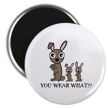 """YOU WEAR WHAT RABBIT 2.25"""" Magnet (10 pack)"""