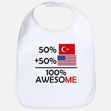 Half Turkish Half American Bib
