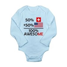 Half Swiss Half American Body Suit