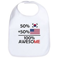 Half Korean Half American Bib