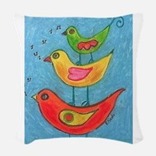 Bird song© Woven Throw Pillow