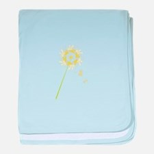 Dandelion baby blanket